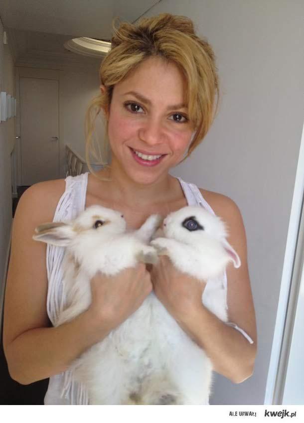 Shakira i jej wielkanocne króliczki ♥