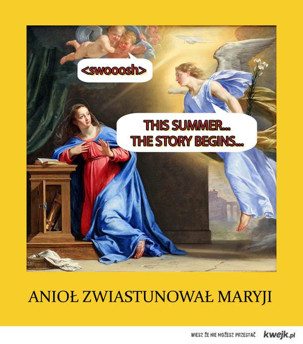 Anioł zwiastunował Maryji