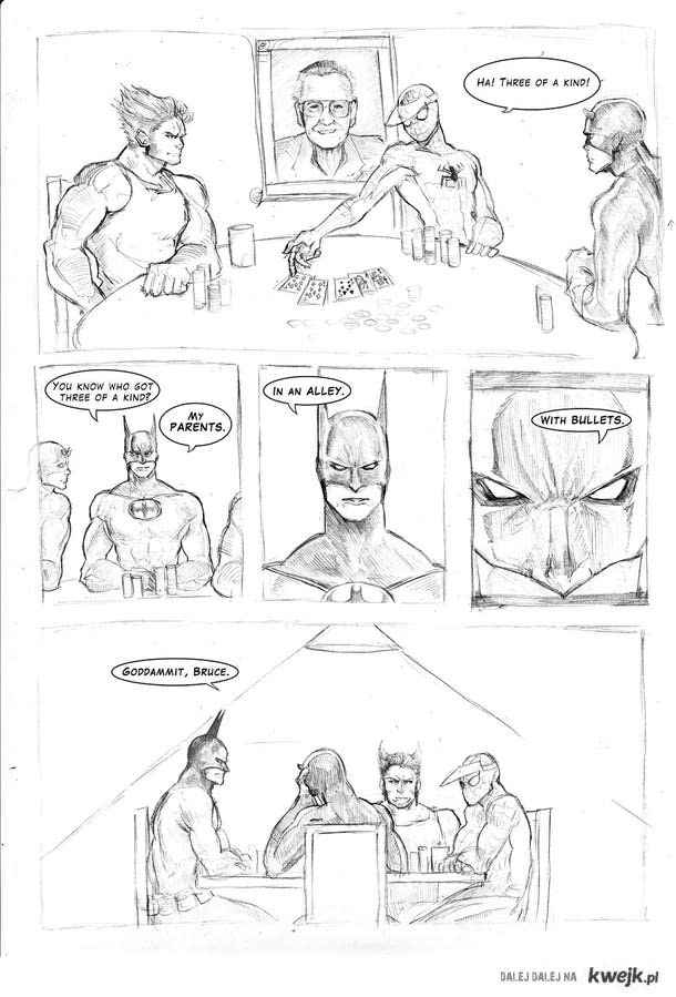 batman playing poker
