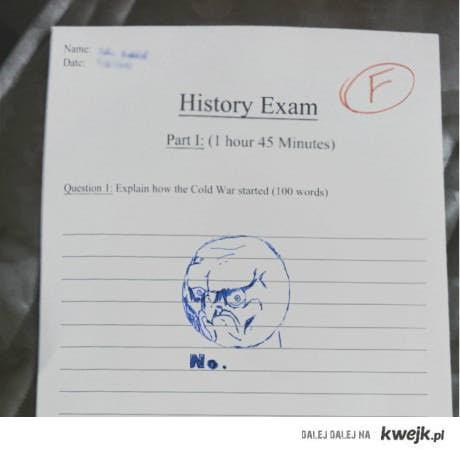 history exam - NO