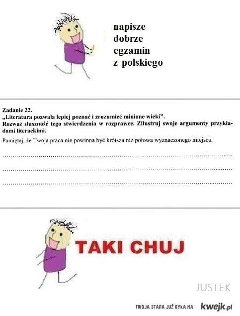 egzamin z polskiego