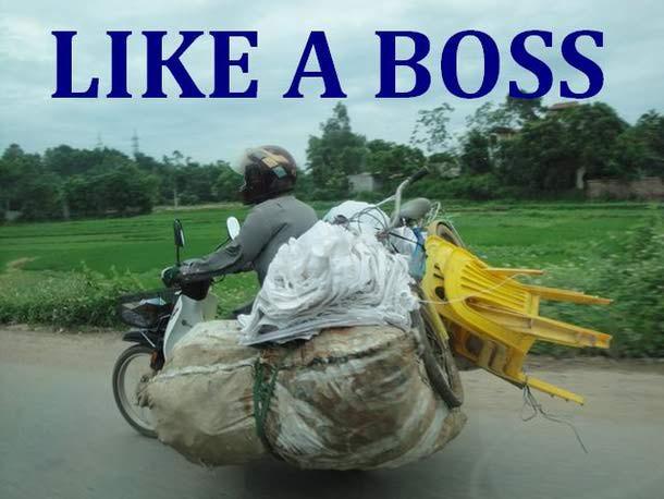 Like a boss...