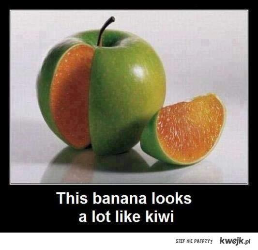 banan wyglada jak kiwi
