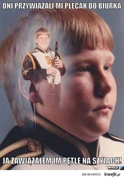 Dziecko z klarnetem