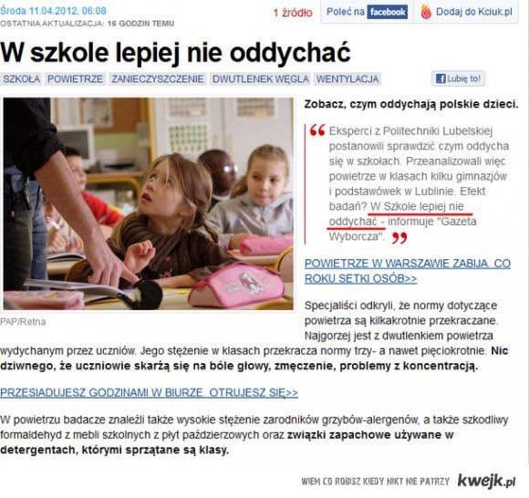 Gazeta Wyborcza radzi - Nie oddychać!