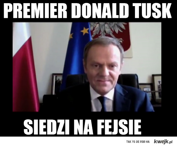 Tusk czyta komentarze na Facebooku