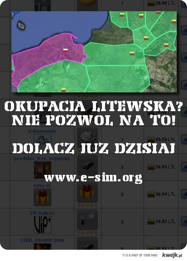 E-sim- Pomóż sPolsce odzyskać niepodległość !!