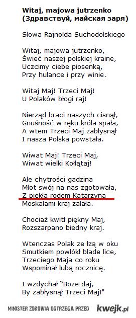 Katarzyna W. proroctwo z 3 maja :D