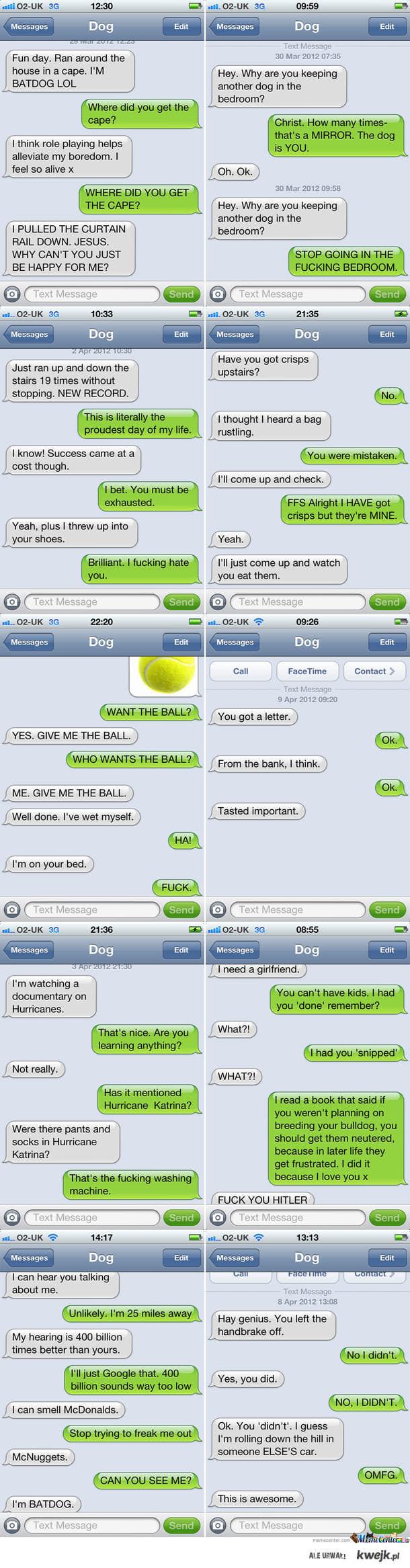 Smsy od psa :D