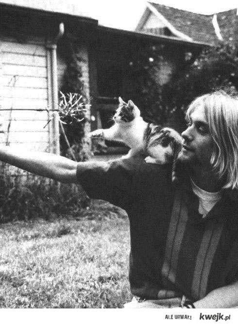 Kurt Cobain z kotem