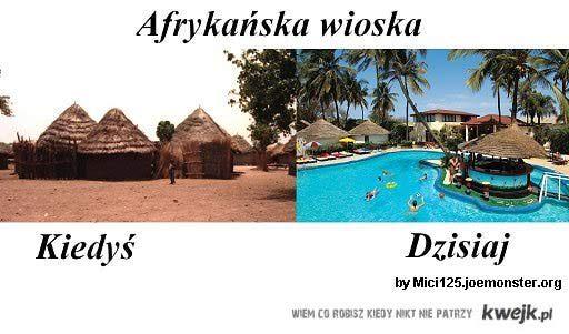 Afrykańska wioska-kiedyś i dziś