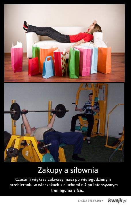 Zakupy a siłownia