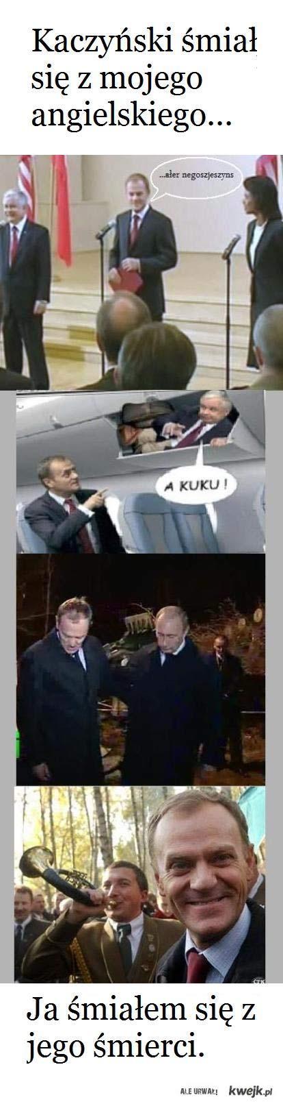 Kaczyński śmiał się z mojego angielskiego...