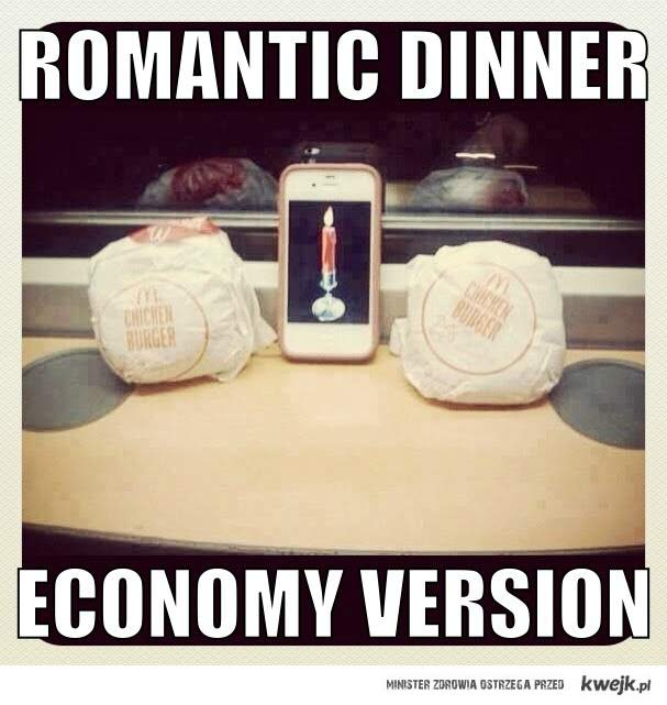 romantyczna kolacja..