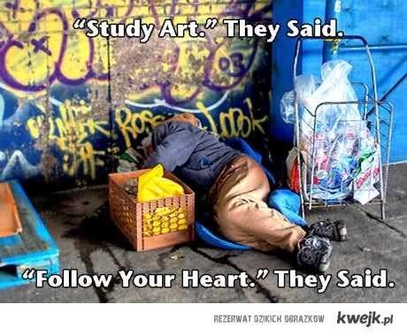 studiuj sztukę mówili