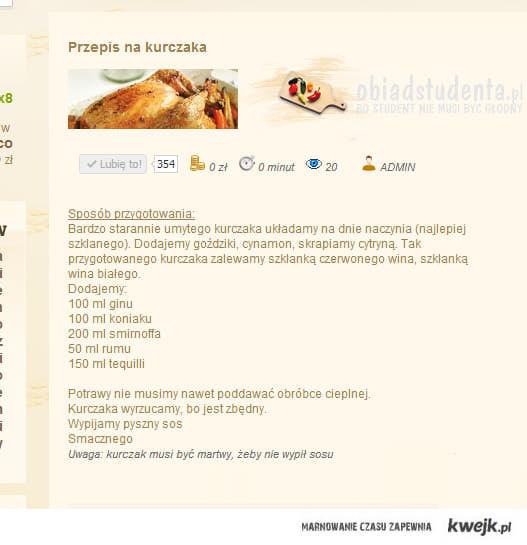 Przepis na kurczaka po studencku