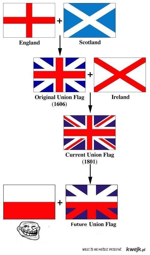 Flaga wielkiej brytanii ; *