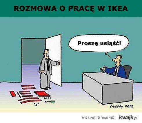 rozmowa w IKEA