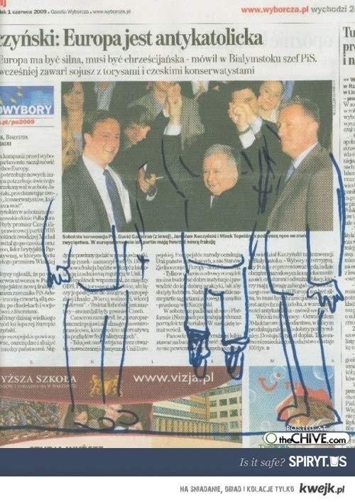 Cameron, Kaczyński i Topolanek bawią się na całego!