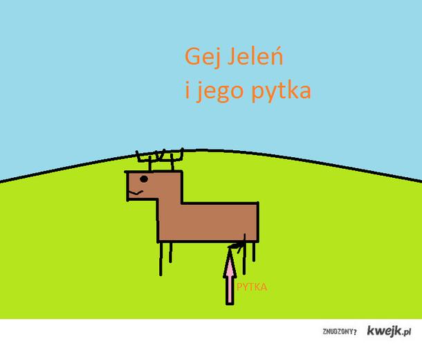 Jeleń i jego pytka ;)