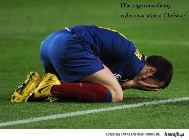 Iniesta przeżywa przyszłą porażkę z Chelsea