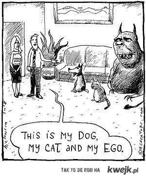 my cat, dog and ego