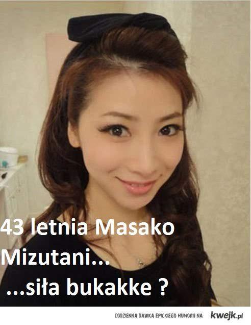 43 letnia Masako Mizutani o wyglądzie studentki :-)