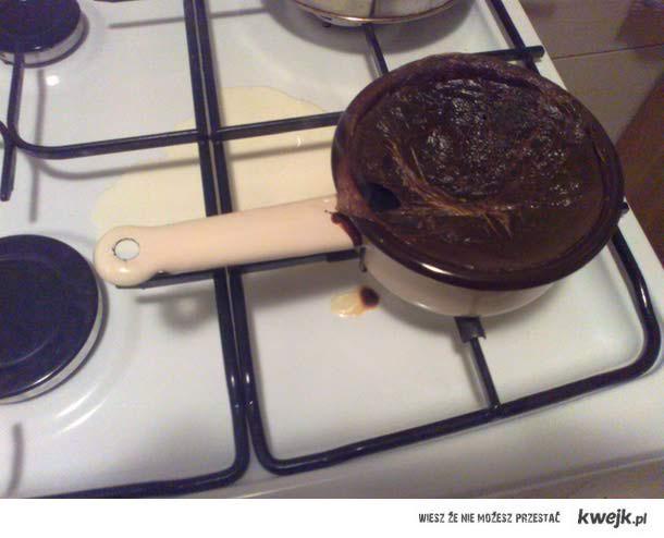Nie ma to jak gotować mleko C;