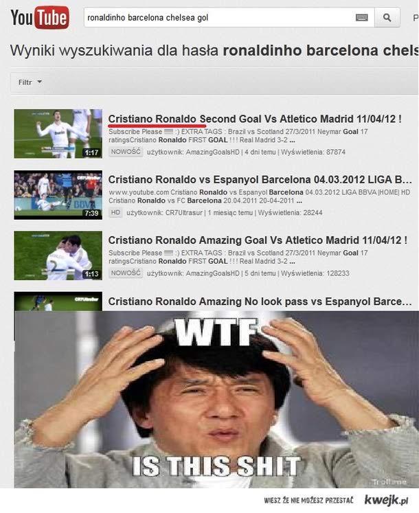 WTF?! A gdzie prawdziwy piłkarz Ronaldinho?