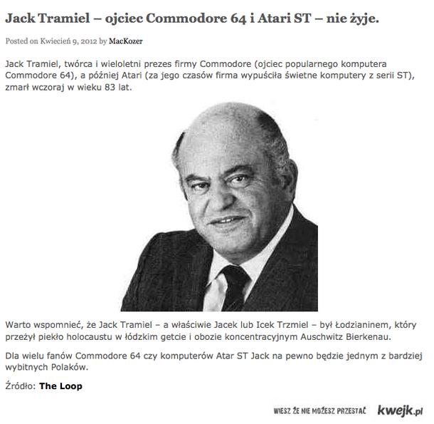 Jack Tramiel nie żyje