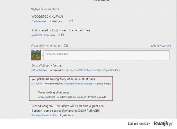Trolling on internet