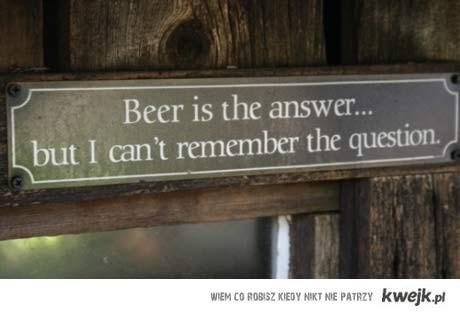 piwo jest odpowiedzią
