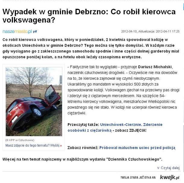 Co robił kierowca volkswagena ?