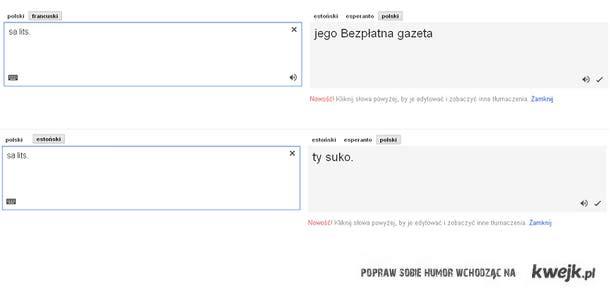 moc tłumacza google