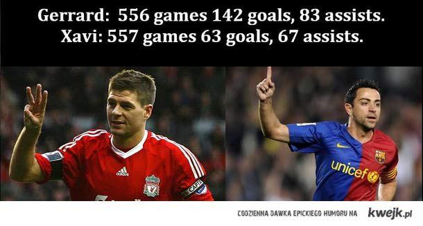 Gerrard > Xavi