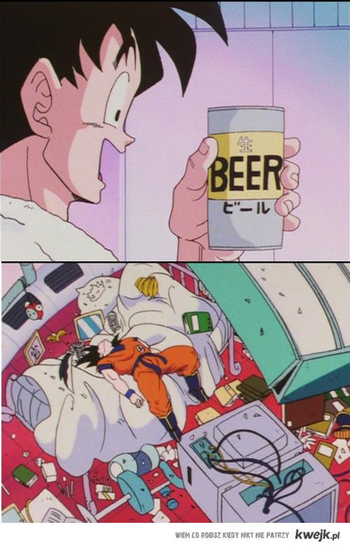 Goku i piwo