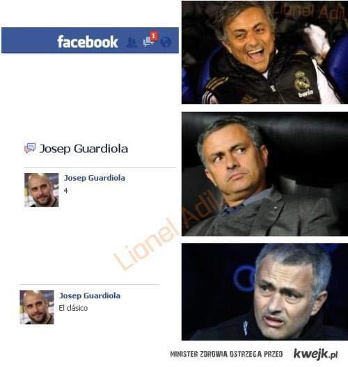 Guardiola to Mourinho