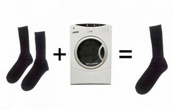 pranie skarpetek