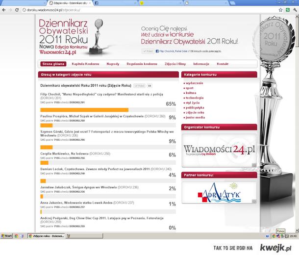 Głosujcie na Dziennikarza Obywatelskiego 2011!