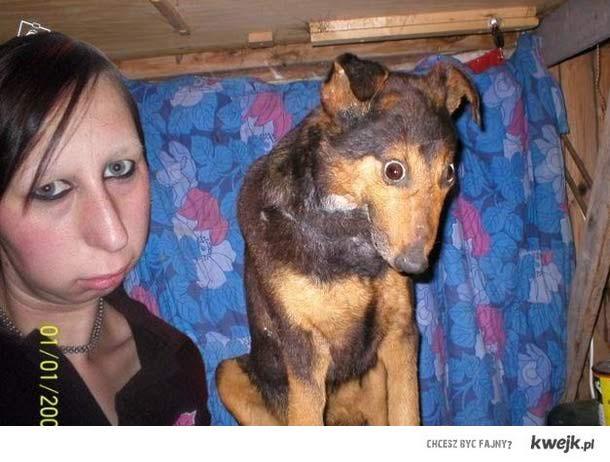 podobno psy upodabniają się do właścicieli ..