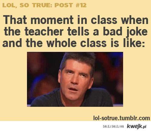 teacher's bad joke...