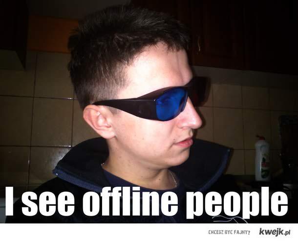 i see offline people