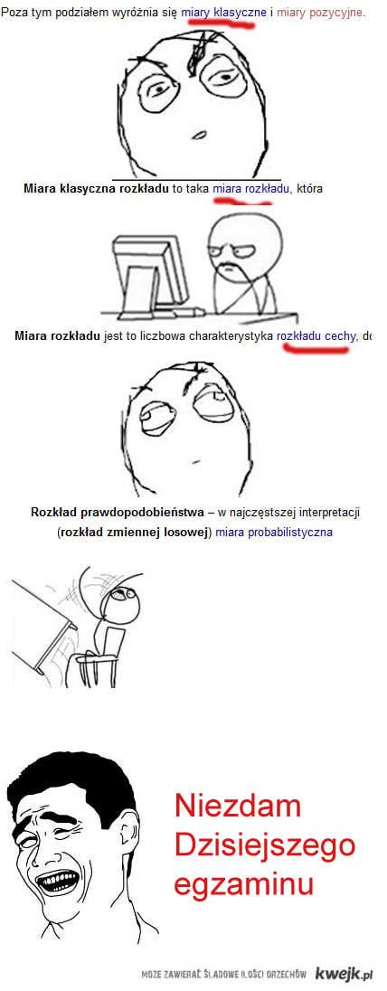 Nauka kilka min przed egzaminem