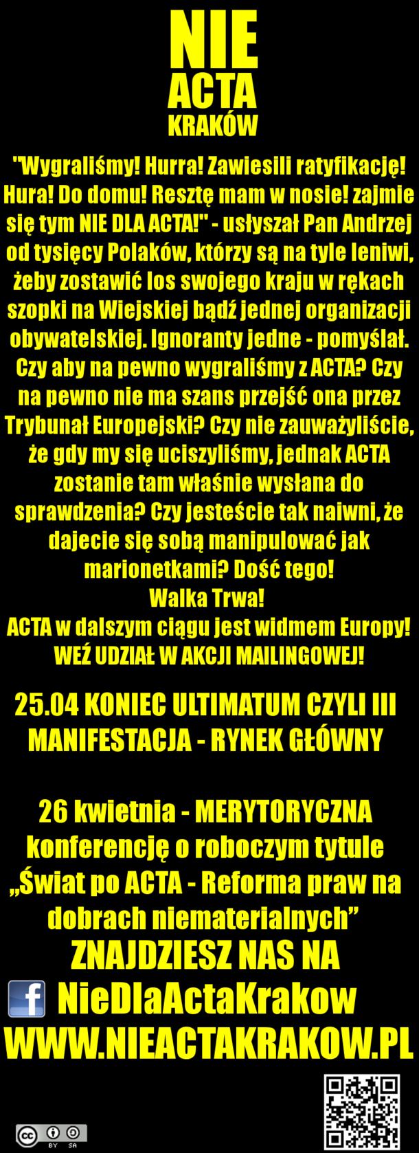 WALKA TRWA!! III MANIFESTACJA NDA KRAKÓW