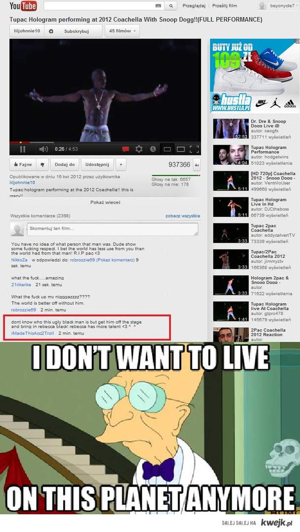 I don't want to live...