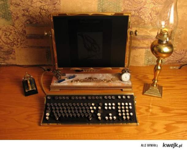 steampunkowy komputer