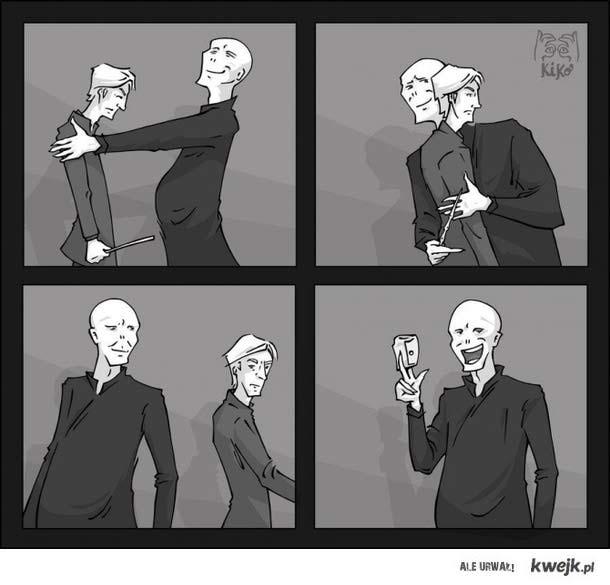 magiczna sztuczka Voldemorta