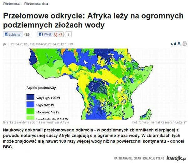 woda pod Afryką