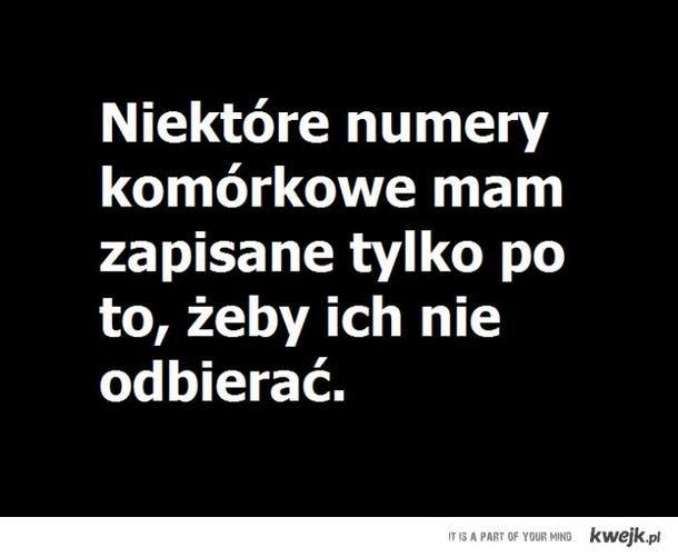 Niektóre numery ...