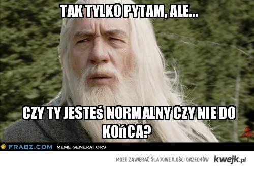 Pytanie Gandalfa